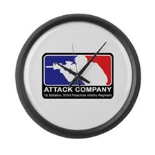 Cute 1st infantry Large Wall Clock