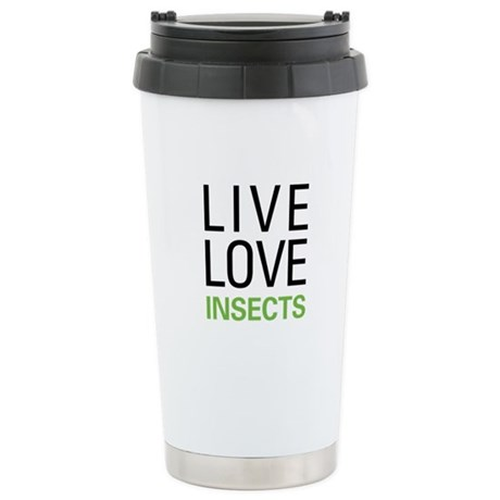 Live Love Insects Stainless Steel Travel Mug