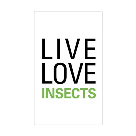 Live Love Insects Sticker (Rectangle)