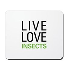Live Love Insects Mousepad