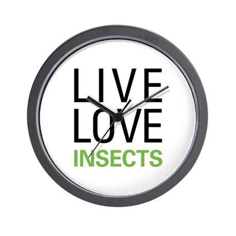 Live Love Insects Wall Clock