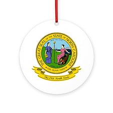 North Carolina Seal Ornament (Round)