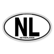 Netherlands Euro Oval (plain) Decal