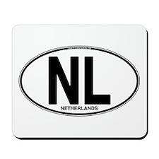 Netherlands Euro Oval (plain) Mousepad