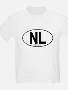 Netherlands Euro Oval (plain) T-Shirt