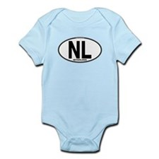 Netherlands Euro Oval (plain) Infant Bodysuit