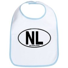 Netherlands Euro Oval (plain) Bib