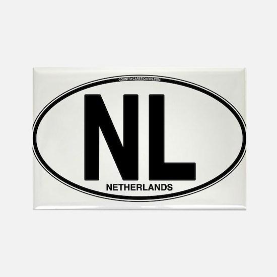 Netherlands Euro Oval (plain) Rectangle Magnet