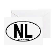 Netherlands Euro Oval (plain) Greeting Card
