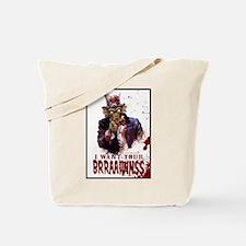 Zombie Uncle Sam Tote Bag