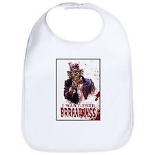Zombie Uncle Sam Bib