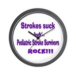 Strokes suck...Survivors rock! Wall Clock