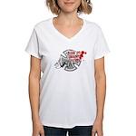 Black Eye Delivery Women's V-Neck T-Shirt