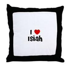 I * Isiah Throw Pillow