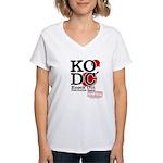 KO Distribution boxing Women's V-Neck T-Shirt