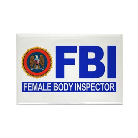 FBI Female Body Inspector Rectangle Magnet (10 pac