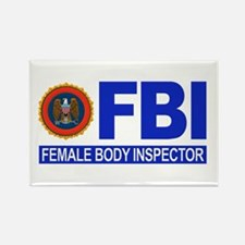 FBI Female Body Inspector Rectangle Magnet (10 pac