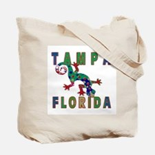 Tampa Florida Lizard Tote Bag