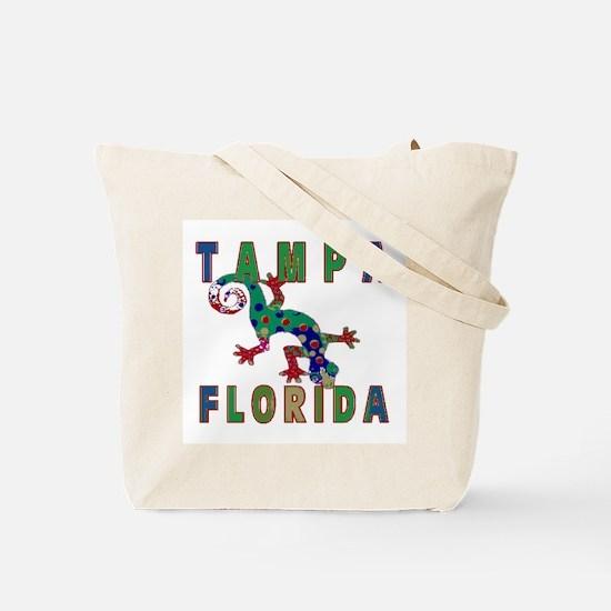 Tampa Florida Lizard Tote Bag