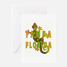 Tampa Florida Lizard Greeting Cards (Pk of 10)
