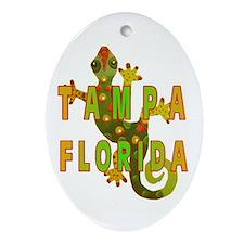Tampa Florida Lizard Oval Ornament