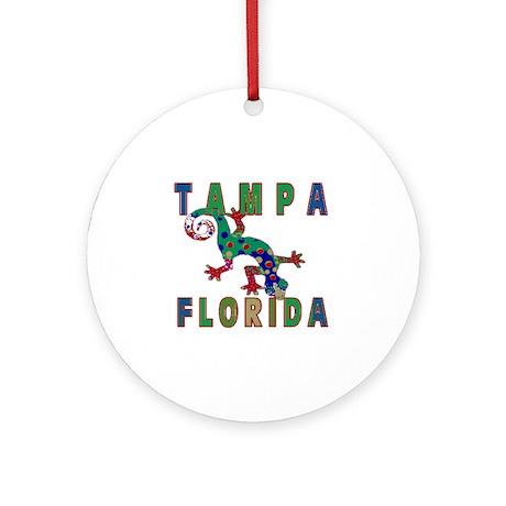 Tampa Florida Lizard Ornament (Round)