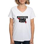 Puncher Women's V-Neck T-Shirt