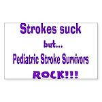 Strokes suck...Survivors rock! Sticker (Rectangle