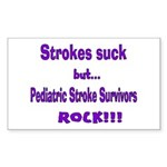 Strokes suck...Survivors rock! Sticker (Rectangle)