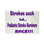 Strokes suck...Survivors rock! Rectangle Magnet (1