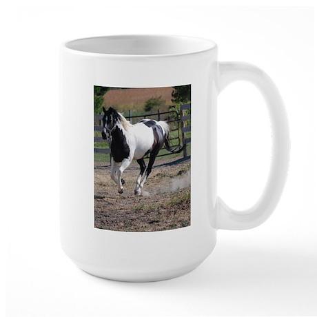 Horse/Pinto Black & White Large Mug
