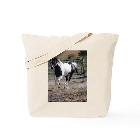 Horse/Pinto Black & White Tote Bag