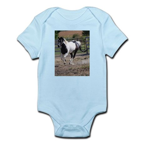 Horse/Pinto Black & White Infant Bodysuit