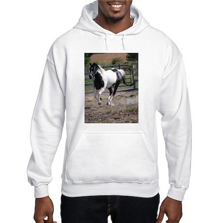 Horse/Pinto Black & White Hooded Sweatshirt