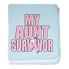 My Aunt is a Survivor baby blanket