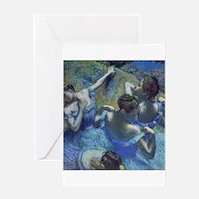 Blue Dancers by Edgar Degas Greeting Cards