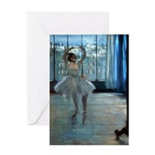 Dancer in Front of a Window by Edgar Degas Greetin
