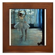 Funny Edgar degas Framed Tile