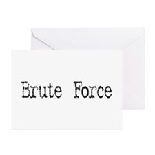 Brute Force Greeting Cards (Pk of 10)