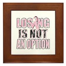 Losing Is Not An Option Framed Tile