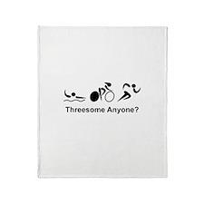 Threesome Anyone? Throw Blanket