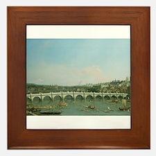 Cute Westminster bridge Framed Tile