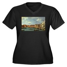 Unique Gondolier Women's Plus Size V-Neck Dark T-Shirt