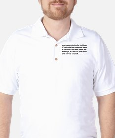 Holiday Cocktail Golf Shirt