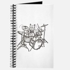 Catoons drums cat Journal