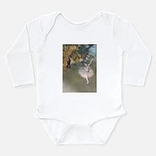 Cute Dance ballet Long Sleeve Infant Bodysuit