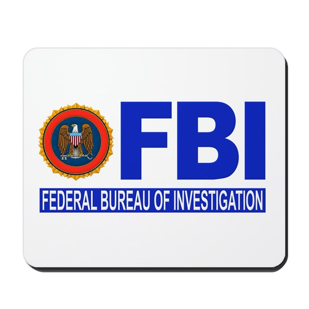 FBI Federal Bureau Of Investigation Mousepad By