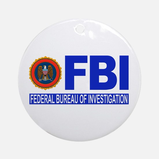 FBI Federal Bureau of Investigation Ornament (Roun