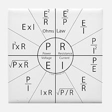 Ohms law Tile Coaster