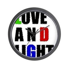 Love and Light Wall Clock